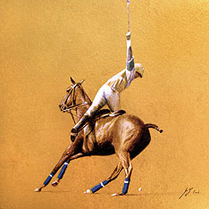 Polo Painting by Michael Hotz